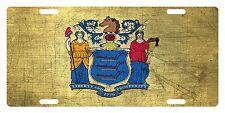 NEW JERSEY STATE FLAG Custom License Plate Emblem Scratch  Version # 02