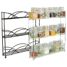 Free Standing 3 Tier Herb & Spice Rack Non-slip Universal Fit M&W