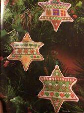 (X4) Sampler Star Decorations Pudding Presents Christmas Cross Stitch Chart