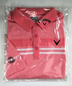 Mens Callaway Polo Tour Issue Pro Golf Odyssey Opti Dri Collared Shirt M L Rare