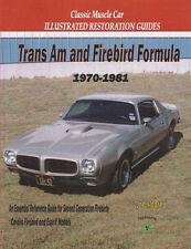 RESTORATION MANUAL GUIDE BOOK FIREBIRD TRANS AM FORMULA TRANSAM MOORE 1970-1981