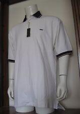L Men Alexander Julian Colours Short Sleeve Polo Shirt White 100% Cotton NWT