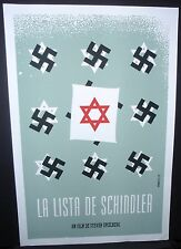 SCHLINDER'S LIST Cuban Silkscreen Tribute Poster for Spielberg Movie / CUBA ART