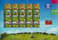 World Cup Golf Malaysia 1999 Sports Games Golfer Championship (sheetlet) MNH