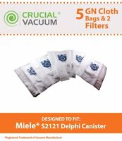 5 REPL  Delphi Canister Miele GN Cloth HEPA Bags, Motor, Filter Part # 10123210