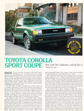 1980 Toyota Corolla Sport Coupe Original Car Review Print Article J464