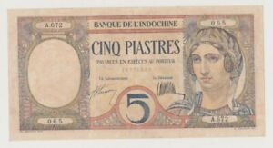 FRENCH INDOCHINA  P 49a  PEACOCK  20  PIASTRES  1926  VF