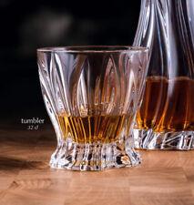 Whiskey Crystal Glass Set of 6 Old Fashioned Rocks 10oz  Bohemian Crystal Glass