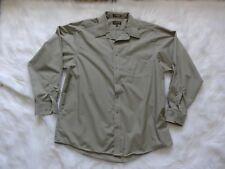 Cambridge Classics Men's Long Sleeve Button Shirt, 18 36/37, Green/Brown, A3P