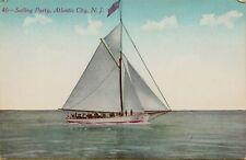 Sail Boat Sailing Party Atlantic City New Jersey NJ Postcard A17