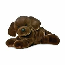 "Aurora Mini Flopsie Lil' Lucky Chocolate Lab 8"" 31257 Plush Stuffed Beanbag NWT"