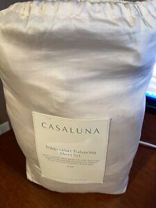 King 300 Thread Count Temperature Regulating Solid Sheet Set Natural - Casaluna