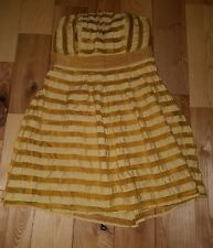The Limited Golden Yellow Strapless Dress, Above the Knee Length, Size 8