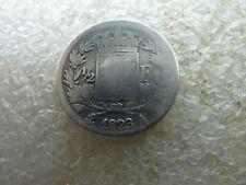 rare demi franc Louis XVIII 1823 A  réf FA 02