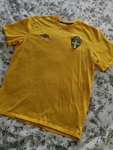 Sweden Football Shirt Umbro Large