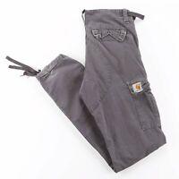 CARHARTT Aviation Pant Grey Woven Regular Straight Pants Mens W25 L32