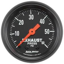 FITS DODGE FORD CHEVY DURAMAX AUTO METER Z-SERIES EXHAUST PRESSURE GAUGE.