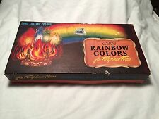 Vintage Christmas Fireplace 1936 Rainbow Colors Christmas Story Priority Mail