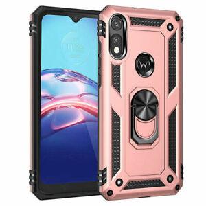 For Motorola Moto E 2020 Phone Case Rugged Ring Stand Holder Armor Hybrid Cover
