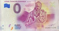 BILLET 0  EURO  VZNIK CESKOSLOVENSKA   SLOVAQUIE  2018  NUMERO DIVERS