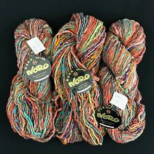 New Listing3 Skeins Noro Furisode Yarn Made in Japan Silk Cotton Wool Color 5 Knitting