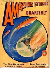 Amazing Stories Qrtly   Vol 4   #3  Pulp   Summer 1931   FINE   Coblentz, Repp