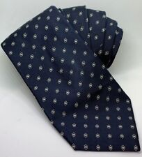 Ralph Lauren Purple Label Tie 100% Silk Dark Blue White Squares Hand Made Italy
