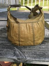 Fossil Olive Green Leather Crossbody