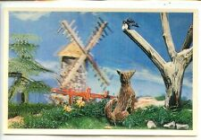 Cp-stereoscopic card - the raven and the fox-saint-nicolas