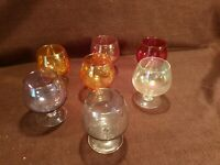 Colored glasses stemware 7 pieces