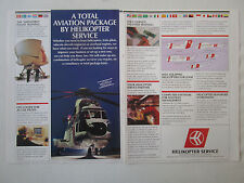 9/1991 PUB HELIKOPTER SERVICE NORWAY HELICOPTER AIRLINE NORVEGE SUPER PUMA AD