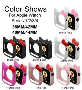 Hello Kitty Soft Silicone Case For iWatch Series SE 6 5 4 3 2 Watch Cover Bumper
