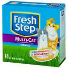 Fresh Step 02049 14 lb. Multi-Cat Scoopable Scented Cat Litter