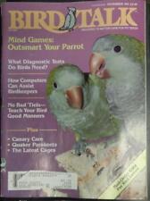 **BIRD TALK MAGAZINE Nov 91 Canary Breeds Quaker Parakeet Training Cockatiels