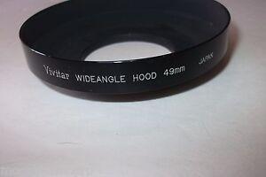 Vivitar WideAngle 49mm Metal Lens Hood SLR Camera Shade - JAPAN - FREE SHIPPING