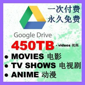 Google Drive Videos 450TB - Movies, TV Series, Anime, Cartoon, Documentary