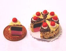 1:12 scala tranciato Cioccolato Torta DOLL HOUSE miniatura CUCINA shop Accessorio SC6