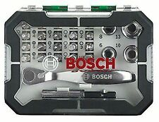 Bosch Screwdriver Bit and Ratchet Set 26 Pieces