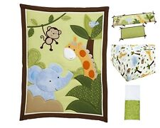 Little Bedding by NoJo - Jungle Time Crib Bedding 7-Piece Set