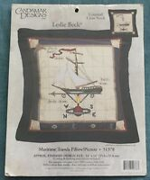 Candamar Designs Maritime Travels Pillow / Picture Counted Cross Stitch Kit NIP