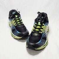 ASICS Gel-Nimbus 17 Men Running Shoes Sz 14 Black/Blue/Lime T507N