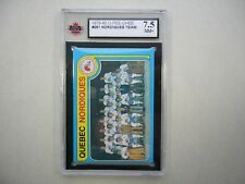 1979/80 O-PEE-CHEE HOCKEY CARD #261 QUEBEC NORDIQUES CHECKLIST KSA 7.5 NM+ OPC