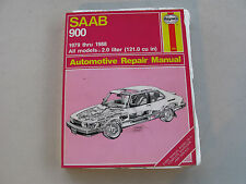 HAYNES #980 Auto Repair Manual for SAAB 900 (1979-1988) All Models 2.0 Liter