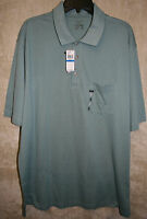 NWT VanHeusen L/S Sleeve 2/3 Button Polo Rugby shirt Colors Plaid soft Cotton
