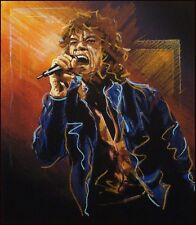 "Ronnie Wood ""Study For Mick II"" SOLD OUT Mick Jagger, Hand Signed Artwork"