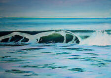 "Original Oil on Canvas ""New Years Wave"" by Ross D Jahnig"