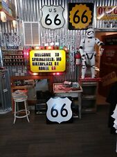 US ROUTE 66 SHIELD reflective  highway marker sign.