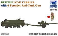 Bronco Models 1/35 British Loyd Carrier with 6 Pdr Anti-Tank Gun w/figure