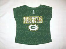 Green Bay Packers Nfl Team Apparel Girls Cap Sleeve/Pj Top size X-Large 14-16 Xl