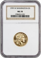 1999-W Washington $5 NGC MS70 - Modern Commemorative Gold